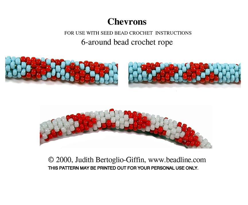Bead Crochet Chevrons Patterns Bead Patterns