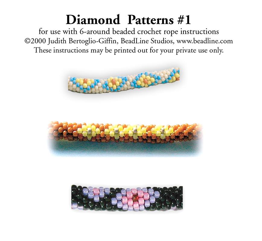 Bead Crochet Diamond Patterns 1 Bead Patterns