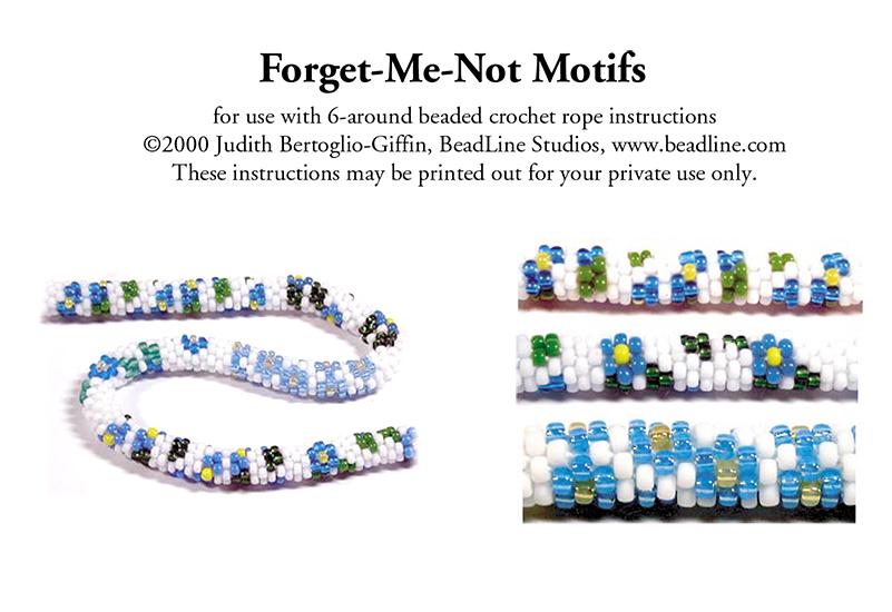 Bead Crochet Forget Me Not Motifs Bead Patterns