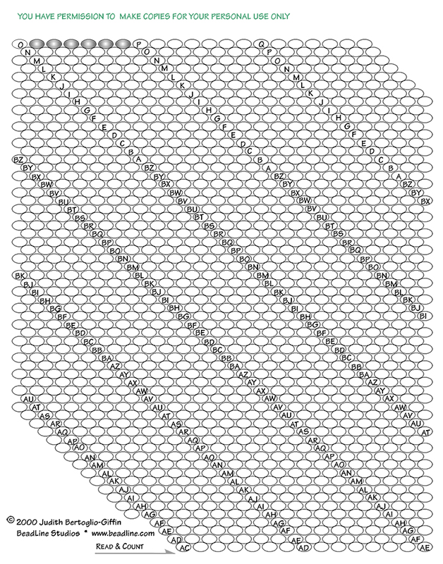 Bead Crochet Rope Graph Paper Bead Patterns