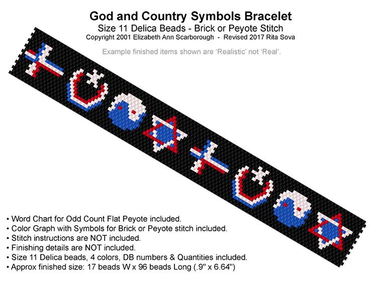 God And Country Symbols Bracelet Bead Patterns
