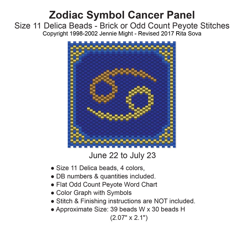 Zodiac Symbol Cancer Panel Bead Patterns