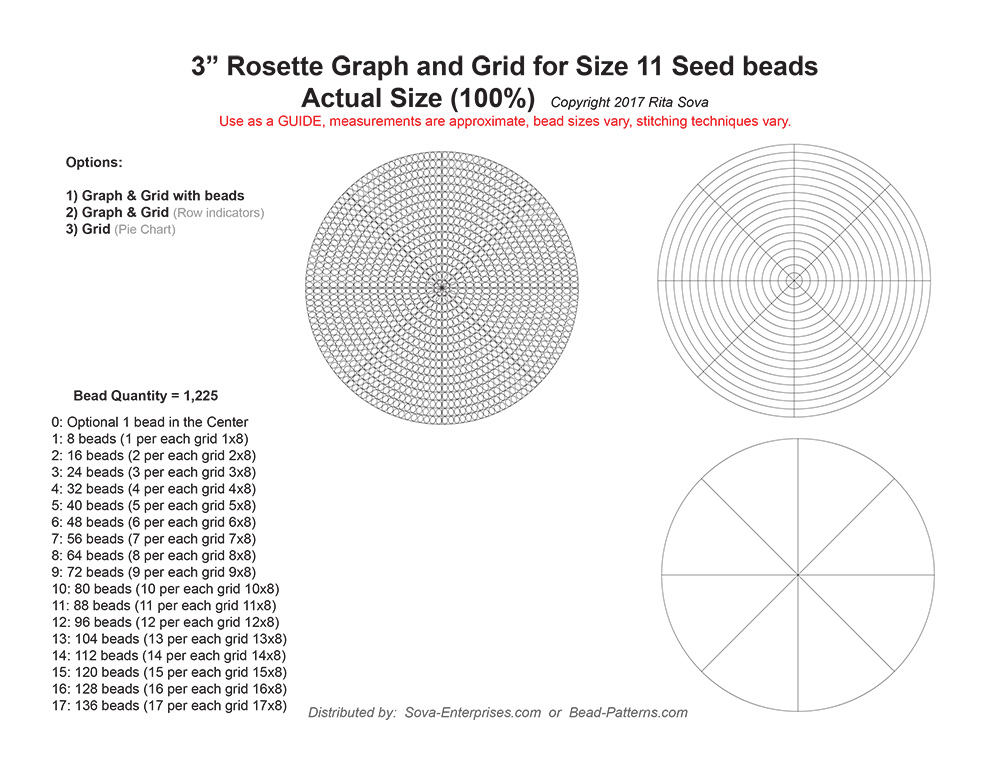 beaded rosette graph paper - Gecce.tackletarts.co
