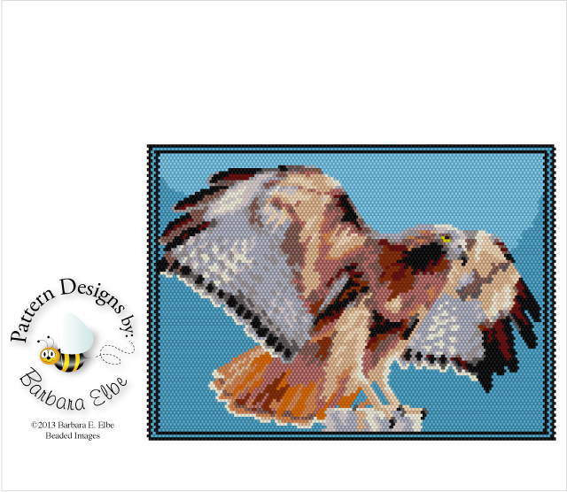 Red Tailed Hawk Tapestry 328 Bead Patterns