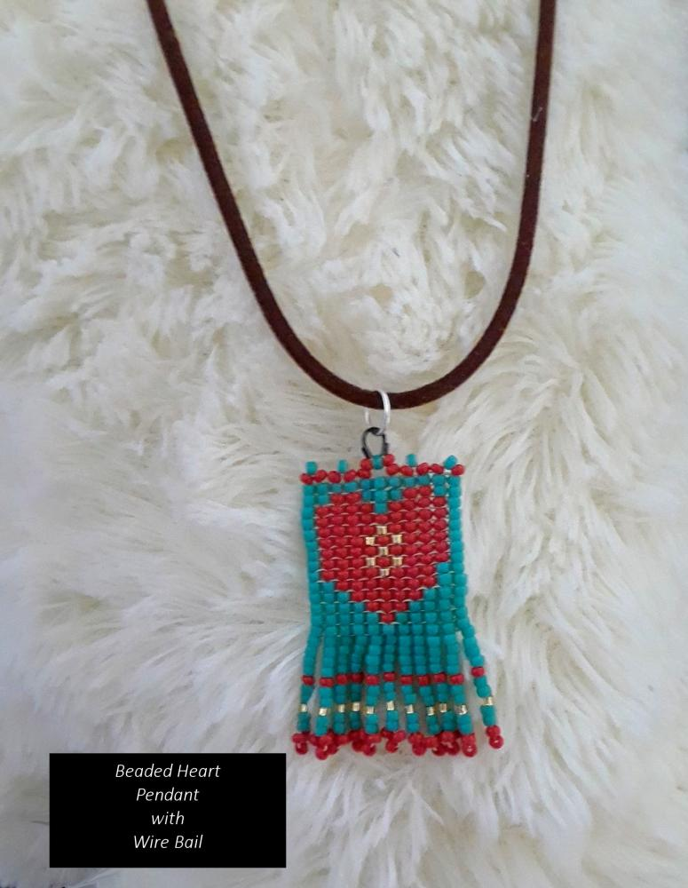 Beaded Heart Pendant with Wire Bail   Bead-Patterns