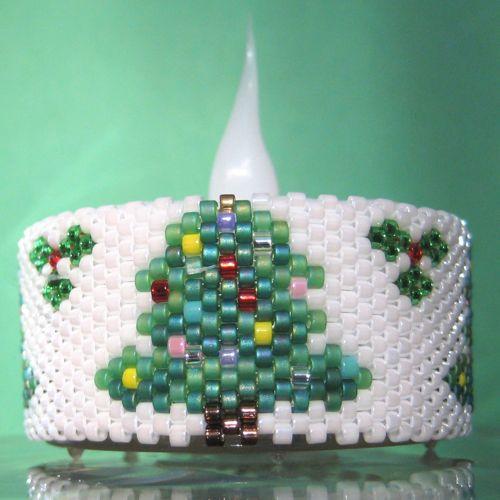 Christmas Tree Napkin Pattern: Christmas Tree Tea Light Cover / Napkin Ring