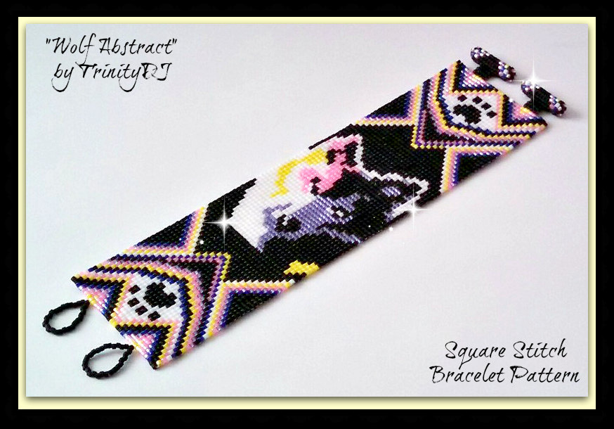 Quot Wolf Abstract Quot Beaded Bracelet Pattern Bead Patterns