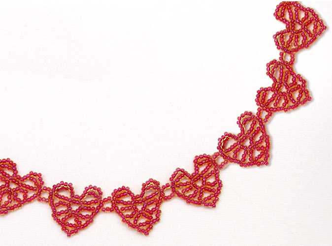 More Hearts Beaded Necklace Pattern Bead Patterns