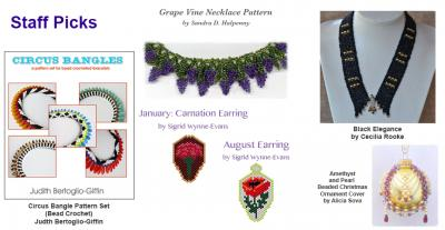 Bead Patterns from designer worldwide, many free bead patterns tutorials and intructions